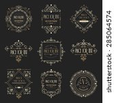 golden luxury vector design... | Shutterstock .eps vector #285064574