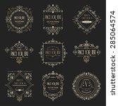 golden luxury vector design... | Shutterstock .eps vector #285064574