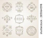 luxury vector design frame  ... | Shutterstock .eps vector #285064598