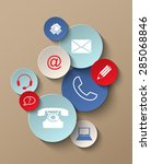 group of colorful contact icons ...   Shutterstock .eps vector #285068846