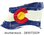 colorado grunge flag. a flag of ... | Shutterstock .eps vector #285072029