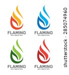 abstract flame logo design.... | Shutterstock .eps vector #285074960