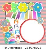 birthday party elements with... | Shutterstock .eps vector #285075023