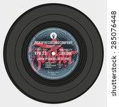 vinyl record  colourful label... | Shutterstock .eps vector #285076448