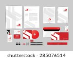 red and white with triangle... | Shutterstock .eps vector #285076514