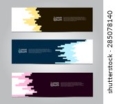 vector design banner background.... | Shutterstock .eps vector #285078140