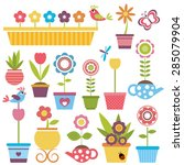 Cute Spring Colorful Flowers I...