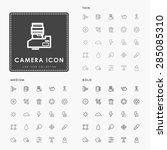 camera thin  medium and bold... | Shutterstock .eps vector #285085310