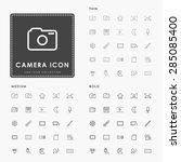 camera thin  medium and bold... | Shutterstock .eps vector #285085400