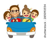 illustration of cute happy... | Shutterstock .eps vector #285093554