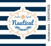 nautical card.  t shirt printing | Shutterstock .eps vector #285095828