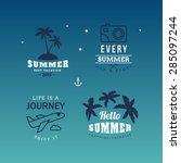 set of vector design elements.... | Shutterstock .eps vector #285097244