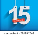 15 anniversary numbers with... | Shutterstock .eps vector #285097664