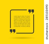 square quote text bubble | Shutterstock .eps vector #285103490