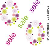 colorful sale poster | Shutterstock . vector #28510921