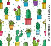 vector seamless pattern of... | Shutterstock .eps vector #285110120