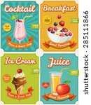 set of four high detailed food... | Shutterstock .eps vector #285111866