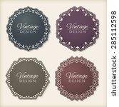 floral circle frames  vintage... | Shutterstock .eps vector #285112598