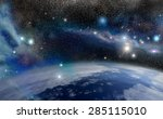 blue planet earth  the planet... | Shutterstock . vector #285115010