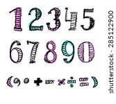 vector colored numerals | Shutterstock .eps vector #285122900