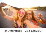 close up lifestyle portrait of... | Shutterstock . vector #285125210