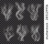 set of translucent gray smoke... | Shutterstock .eps vector #285129956