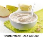 bowl of baby food  healthy... | Shutterstock . vector #285131000