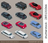 flat 3d isometric high quality... | Shutterstock .eps vector #285131066