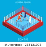 boxing ring professional... | Shutterstock .eps vector #285131078