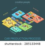 car production industry... | Shutterstock .eps vector #285133448