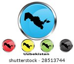 glossy vector map button of... | Shutterstock .eps vector #28513744