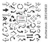 vector hand drawn arrows big... | Shutterstock .eps vector #285140810
