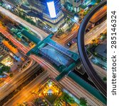 birds eye view of the... | Shutterstock . vector #285146324