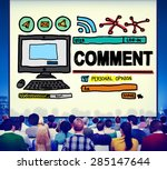 comment post share social media ... | Shutterstock . vector #285147644