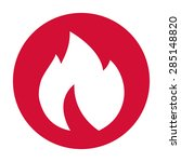 fire  flame icon. | Shutterstock .eps vector #285148820