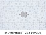 missing puzzle  concept... | Shutterstock . vector #285149306