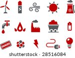 vector icons pack   red series  ... | Shutterstock .eps vector #28516084