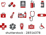 vector icons pack   red series  ... | Shutterstock .eps vector #28516378