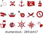 vector icons pack   red series  ... | Shutterstock .eps vector #28516417