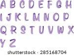 english alphabet a to z | Shutterstock .eps vector #285168704