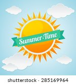 vector illustration sun and... | Shutterstock .eps vector #285169964