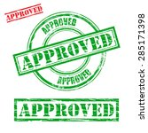 rubber stamp design approved | Shutterstock .eps vector #285171398