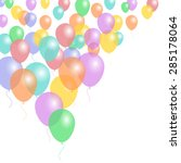 background with flying colored... | Shutterstock . vector #285178064