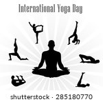 world yoga day vector... | Shutterstock .eps vector #285180770