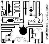black vector laboratory... | Shutterstock .eps vector #285187850