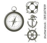 set of vector sailing design... | Shutterstock .eps vector #285187859