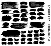set of black ink vector stains | Shutterstock .eps vector #285188606
