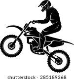 motocross rider silhouette | Shutterstock .eps vector #285189368