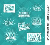 back to school typographic  ... | Shutterstock .eps vector #285196184