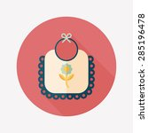 baby bib flat icon with long... | Shutterstock . vector #285196478